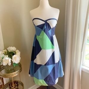 Anthropologie Strapless Cubism Dress by Maeve 4